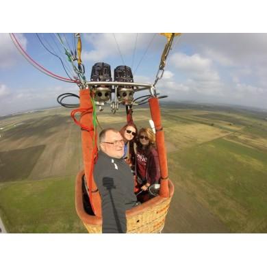 Полет с балон в област Варна 30-45 мин. за 1 човек (Полетът е с 4 пасажера в коша)